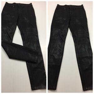 LEVEL 99 Anthropologie Coated Slim Skinny Jeans
